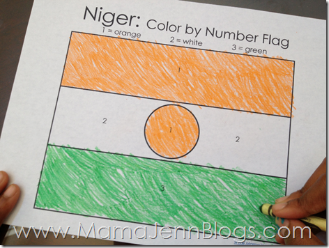 Niger Flag Color By Number Printable Coloring Page