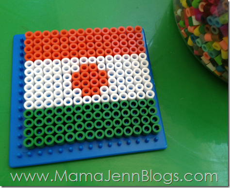 Niger Flag made with Perler Beads
