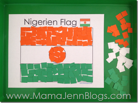 Niger Flag Paper Craft with FREE Printable