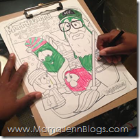Merry Larry and the True Light of Christmas Coloring Page