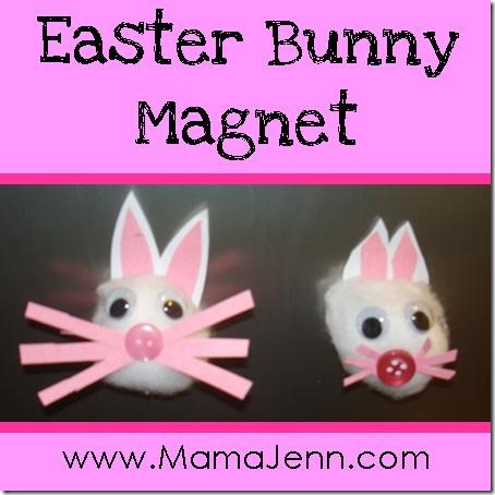 Homemade Easter Bunny Magnet Craft